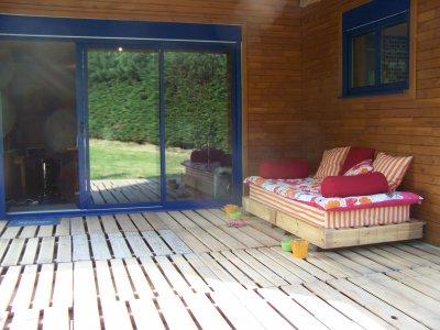 Blog de nathjn page 58 maison en bois - Terrasse en palette de bois ...
